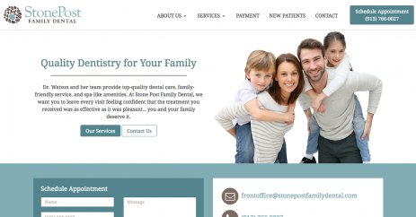 Stone Post Family Dental New Website